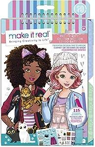 Make It Real - Cuaderno de Dibujo estilizado: Fashion Design Gattina Adorable, Multicolor, 3204