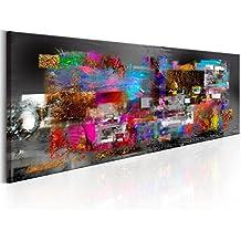 murando Impression sur toile 135x45 cm - 3 couleurs au choix- 1 pieces - Image sur toile – Images – Photo – Tableau - motif moderne - Décoration - tendu sur chassis - abstraction abstrait coloré f-A-0484-b-b 135x45 cm