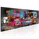 murando Bilder 150x50 cm - Leinwandbild - 1 Teilig - Kunstdruck - Modern - Wandbilder XXL - Wanddekoration - Design - Wand Bild - Abstrakt Bunt f-A-0484-b-b