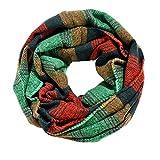 Écharpe à la Mode en Forme de Plaid en Cachemire et Sentiment Pour L'Automne et L'Hiver (Vert)