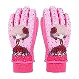 Aundiz Skifahren Handschuhe Gummiband Fitness Winddicht Wasserdicht Rutschfest Radfahren Handschuhe Rosa Xl Handshuhe für Kinder