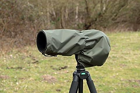 Objectif/Housse de pluie imperméable pour appareil photo Sigma DG 120–400mm 4,5–5,6APO HSM, & Pochette de transport, 2couleurs, DPM Camouflage, vert