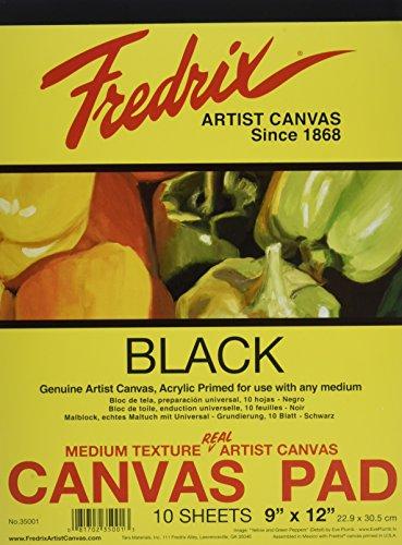 Fredrix Pad (Fredrix t3500110Blatt Leinwand Pads, 22,9x 30,5cm schwarz)