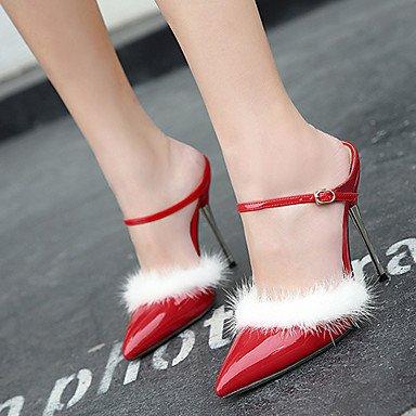 LvYuan Sandalen-Büro Kleid Party & Festivität-PU-Stöckelabsatz-Komfort-Schwarz Rot Weiß Red