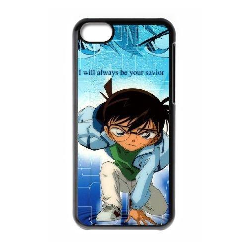 Detective Conan coque iPhone 5C Housse téléphone Noir de couverture de cas coque EBDXJKNBO10222