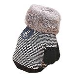 Jamicy Handschuhe Winter Warm Dickere Baumwolle Fingerhandschuhe Kleinkind Baby Jungen Mädchen (Schwarz)