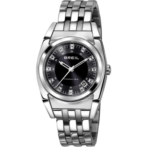 Breil orologio al quarzo con display analogico nero e argento in acciaio...