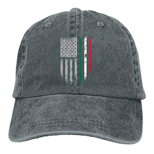 8586c64e0fd28 Fashion Baseball Caps Hats Mexican American Flag Denim Hat Adjustable Men s  Classic Baseball Cap