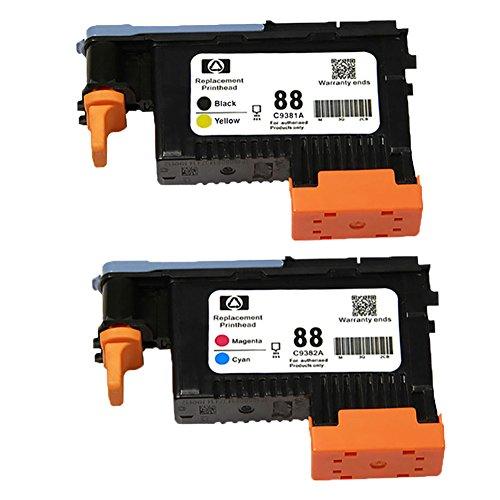 ouguan HP 88C9381A C9382A cabezal de impresión remanufacturée para compatible para HP K550, K5400, K8600, L7000L7480L7550L7580L7590L7650L7680L7710L7750L7780impresoras (1juego)