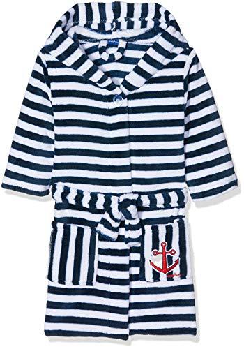 Badeanzug Für Baby Jungen - Playshoes Kinder Fleece-Bademantel Ringel Maritim
