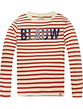 Scotch & Soda Striped AMS. Blauw Long Sleeve tee, Camiseta para Niños