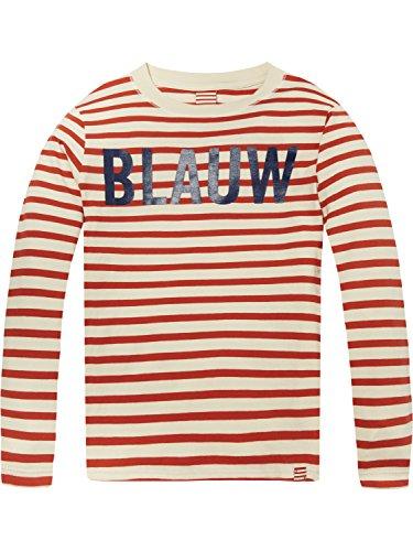 Scotch & Soda Shrunk Jungen T-Shirt Striped Ams. Blauw Long Sleeve Tee, Mehrfarbig (Combo A 21), 116