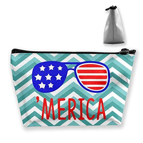 Merica Sonnenbrillen patriotische Geschenk Reise Kulturbeutel tragbare Make-up-Hüllen