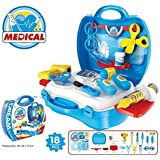 Techhark Doctor's Kit Pretend Play Toy 19 Pcs Set With Multiple Playing Accessories For Kids (Blue Peti)