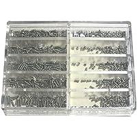 WINOMO 1000pcs acciaio inox orologio orologio occhiali viti riparazione strumenti in 10 formati diversi