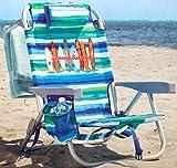 Tommy Bahama Silla de Playa Tipo Mochila Reclinan 5 Posiciones...
