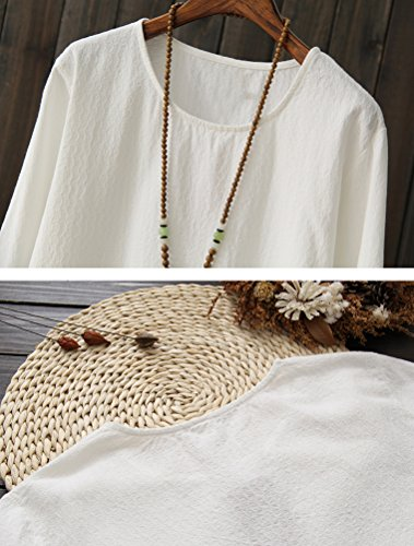 MatchLife Haut Feminin a Longues Manches Blanc