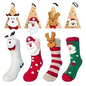 Calcetines de Navidad, 4 Pares