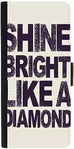 Snoogg Shine Bright Like A Diamond 2869 Designer Protective Phone Flip Case Cover For Zenfone Max