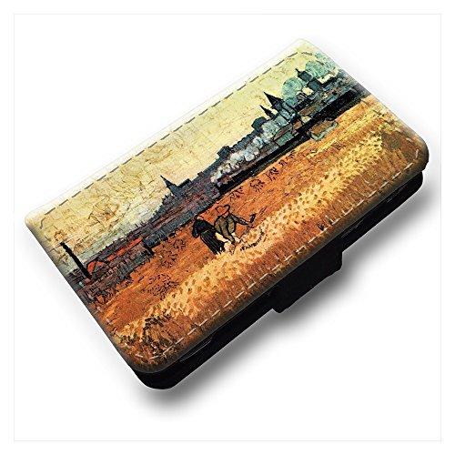 van-gogh-wheat-field-with-a-view-of-arles-nero-portafoglio-magnetico-flip-custodia-protettiva-in-pel