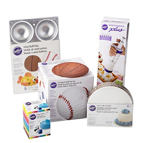 Wilton Sports Ball Cake Pan Set, 16-Piece Wilton Mini Ball Pan