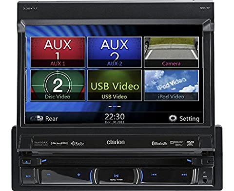 Auto Navigation Radio 1 DIN ausfahrbar Bluetooth DVD passend für Audi A1 + Sportback (8X,8XA) ab