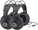 Samson SR850 Professional Studio Headphones Twin Pack