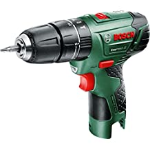 Bosch DIY atornillador Easy Drill 12–2, sin batería, cargador, doble Destornillador Bit, maletín 12V, 2.5Ah, 20mm Diámetro de perforación en madera, 1pieza, 0603972A04