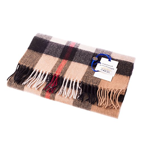 edinburgh-100-lambswool-scottish-tartan-multicolour-scarf-exploded-thomson-camel-one-size