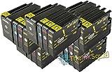 The Ink Squid 5 Sets von Hp950Xl und Hp951Xl dreifarbig und schwarz - hohe Kapazität - Tintenpatrone kompatibel mit Hp vonficejet Pro 8100 8600 8600 Plus und 8600 Premium