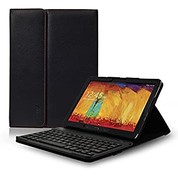 Sharon Samsung Galaxy Note 10.1 Edition 2014 Keyboard Case with with removable Bluetooth keyboard | Wireless Keyboard Cover Folio Case for Galaxy Note 10.1 2014 SM-P605 SM-P600 and TabPRO 10.1 | QWERTY layout