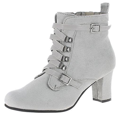 Andrea Conti Damen 3611506 Stiefel, Größe:39 EU, Farbe:grau