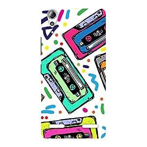 Neo World Cassette Pattern Back Case Cover for Lenovo A6000
