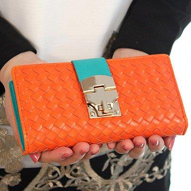 Mode Kontrast Farbe Hasp lange Geldbörse, (Geldbörsen Billig Guess)
