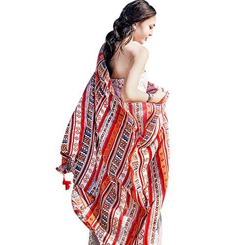 YFZYT Mujeres Bufanda/Echarpe/Pañuelo/Foulard, Pañuelo de seda Mujer Mantón Bufanda Moda Chals Señoras Elegante Estolas Fular para Fiesta, Playa, Uso Diario