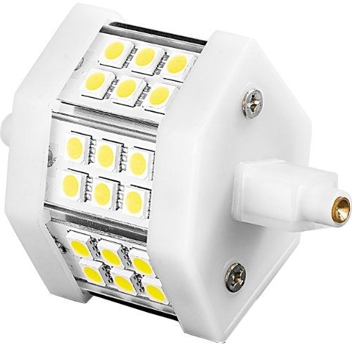 Luminea LED-SMD-Strahler R7S: LED-SMD-Lampe mit 18 High-Power-LEDs, R7S, 78mm, warmweiß (LED-Strahler R7S warmweiss)