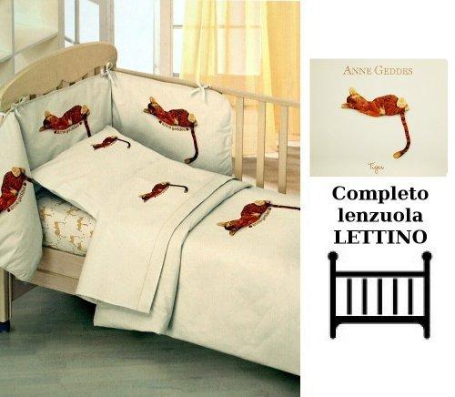 Lenzuola Matrimoniali Anne Geddes.Anne Geddes Completo Lettino Tiger Lettino 120 X 180 Cm