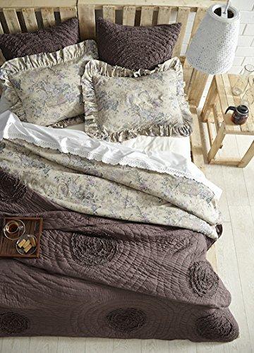 Be-You-tiful Home Plumeria Bettwäsche-Set mit 2 Standard-Kissenbezügen - Cottage Standard-quilt