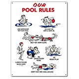 Poolmaster 41337our Pool Rules Animation Schild für privaten Pools