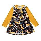 Holywin Mädchen Kleider Fox Print Sommerkleid Kleinkind Kinder Baby Kleidung