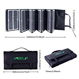 KINGSOLAR Solar Charger New Arrival 80W Luminous Portable Solar Panel with 2-port Ouput for iPhone Sumsung HTC Phones Lenovo HP Dell Acer Laptops etc.