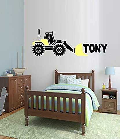 LOADER Truck with Custom name ~ WALL DECAL, HOME DECOR 11 X 31 by Best Priced Decals: CHILDREN