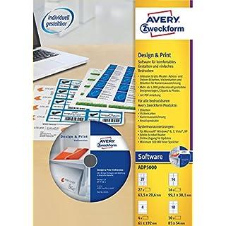 AVERY Zweckform ADP5000 Design und Print Software Vollversion