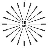 IBEET schwarzer einfacher handlicher Reißverschluss zieht Starke Nylonschnur-Reißverschluss-Umbauten - 10pcs
