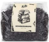 KoRo | Schokodrops Xylit | 1 kg | Zucker-, Laktose- und Glutenfrei | Min. 72% Kakao | Schoko | Backen Und Verfeinern