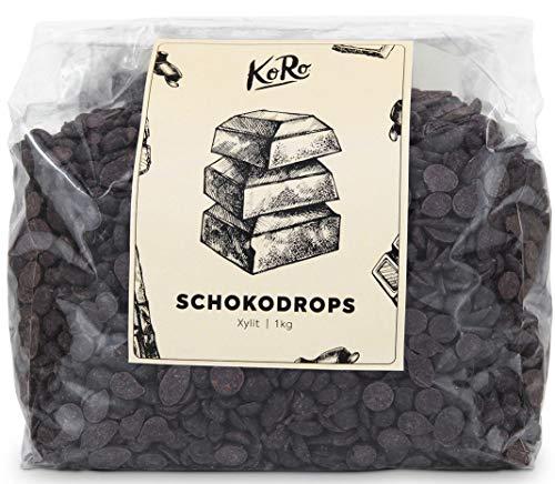 KoRo | Schokodrops Xylit | 1 kg | Zucker-, Laktose- und Glutenfrei | Min. 72{aa03259e370ed9f6f9ec97f590e9246c23a2231aeb78e9d91bc2fe74b4325901} Kakao | Schoko | Backen Und Verfeinern