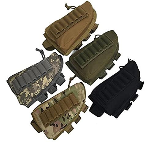 Tactical Rifle Shotgun Buttstock Cheek Rest Rifle Stock munitions Coque Trousse en nylon support Tan, cartouche de Coque support Cheek Rest Gun Stock (CP