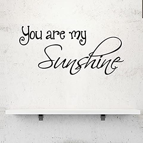 Ferris Store You Are My Sunshine Romantic English Letter Quotes Home Decor PVC Waterproof Home Wall Stickers Wallpaper