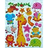 Jazzstick Animal Adhesive Foam Kids Room/Nursery Decorative Wall Sticker A4 Size (VST41A04)