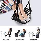 VGEBY Fuß Hängematte Hängesessel Verstellbare Fußablage zur Entspannnung und Entlastung für Büro Schreibtisch Flugzeugreisen